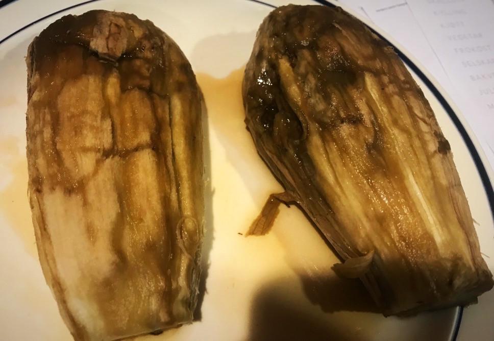 Peeling Eggplant for Baba Ganoush