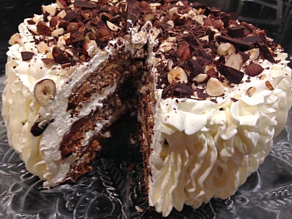 Hazelnut Meringue Mocha Dessert Cake