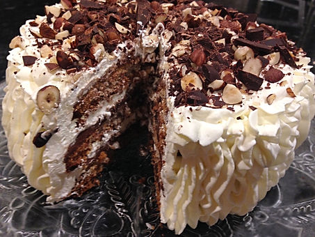 Hasselnøtt Mareng Mokka Dessert Kake