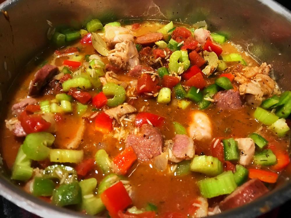 Cooking Jambalaya