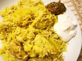 Indian Yellow Rice w/Chicken and Potatoes