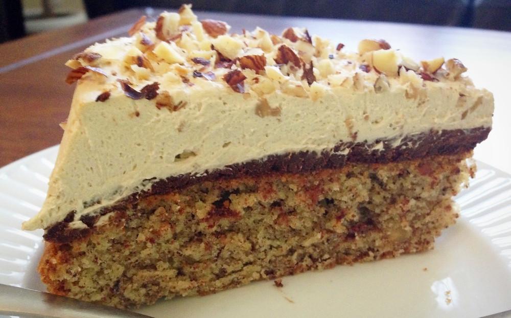 Hazelnut Cake with Chocolate and Espresso Cream