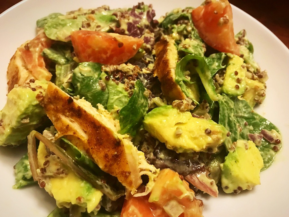Chicken Salad with Quinoa and Avocado