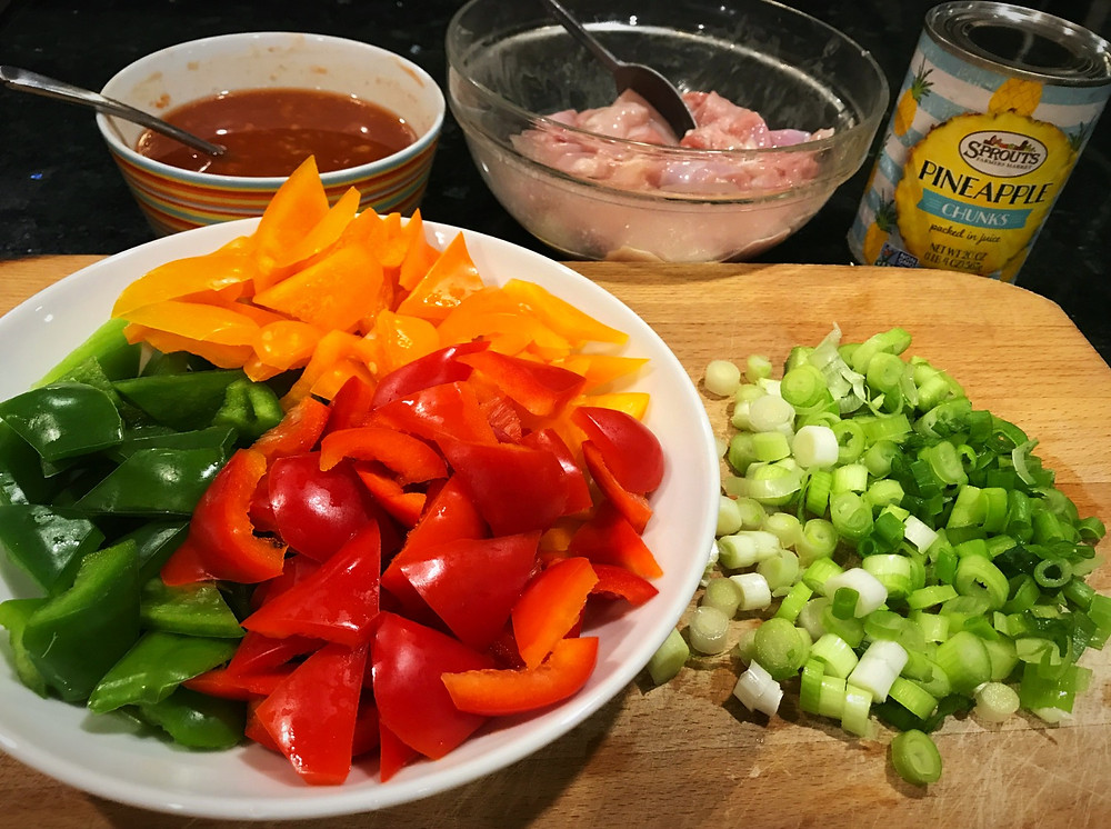 Prep for Sweet and Sour Chicken