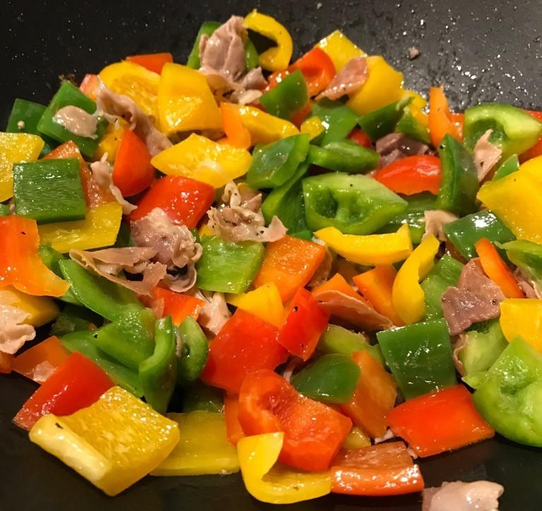Cooking pollo alla Romana