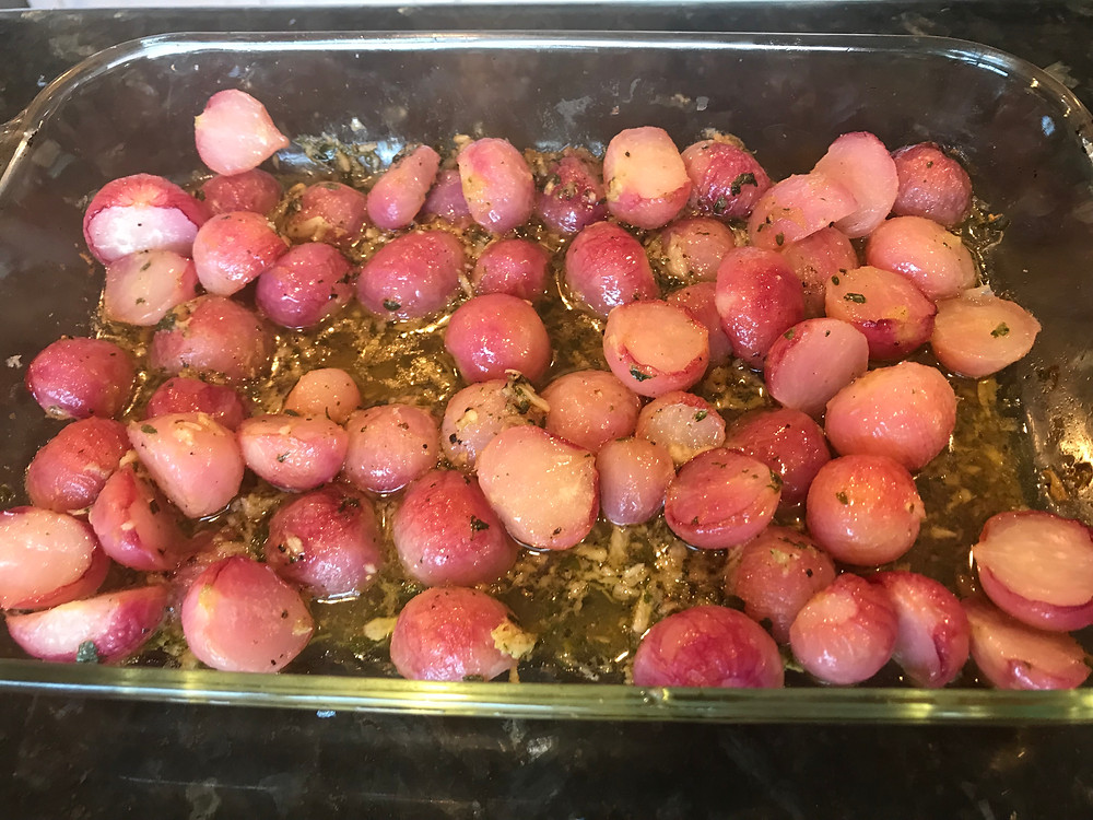 Low Carb KETO Roasted Radishes