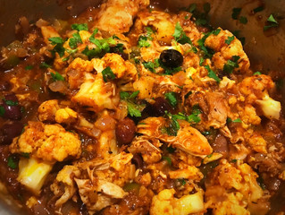 Greek Chicken Stew with Cauliflower and Olives