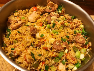 Jambalaya Recipe with Chicken, Sausage, Shrimp and Bacon
