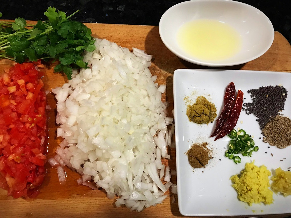 Preparing Ingredients for Dal