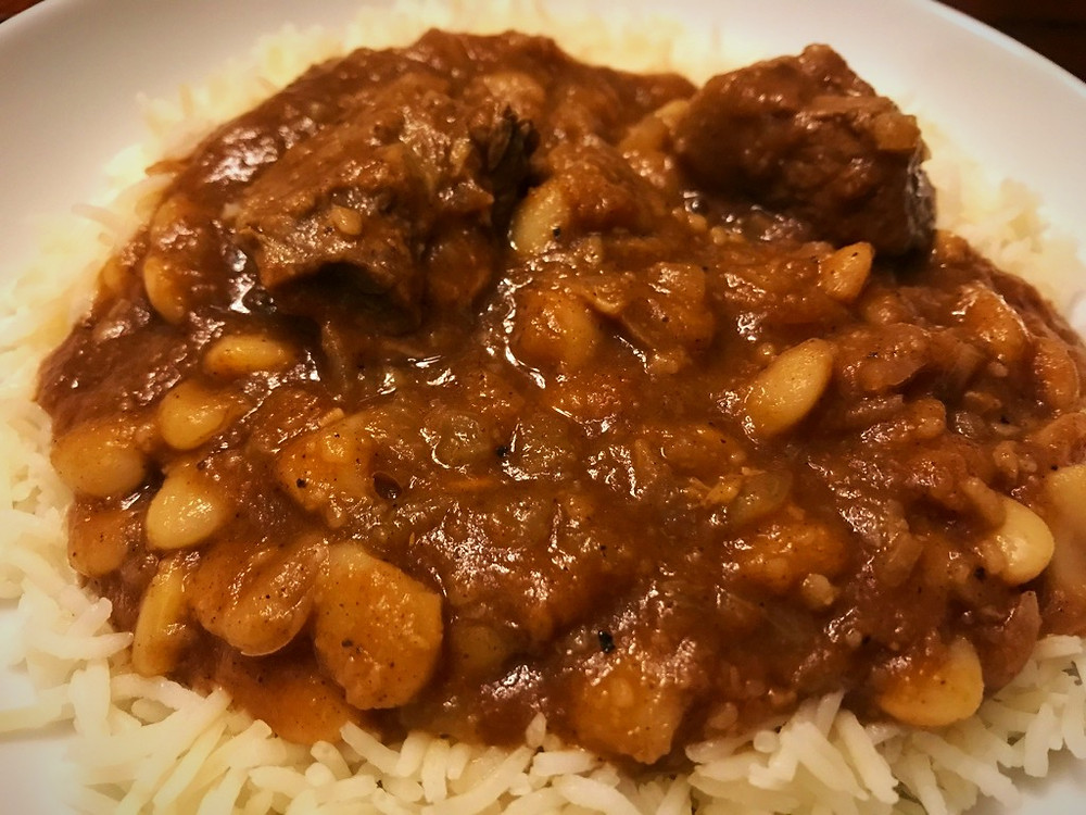 Lebanese Beef and Bean Stew - Fasoliya