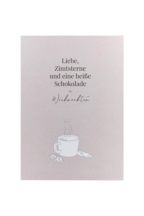 Postkarte - Liebe und Zimtsterne