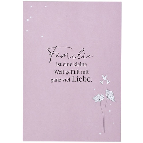 Postkarte - Familie ist ...