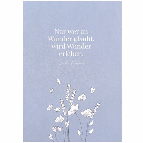 Postkarte - Nur wer an Wunder glaubt