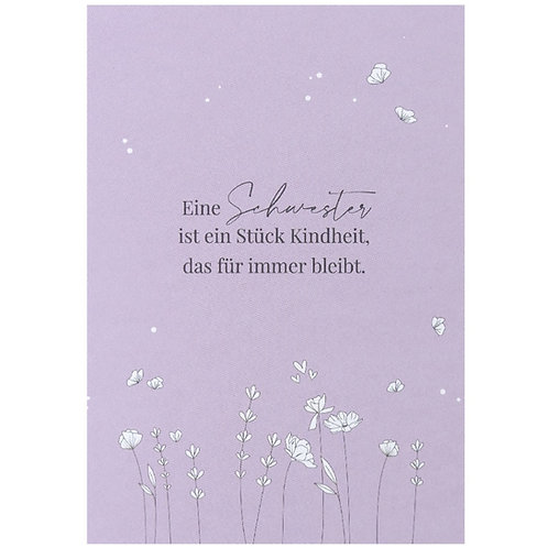 Postkarte - Eine Schwester ist ...