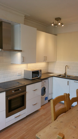 Fresh tiles, work surface and units