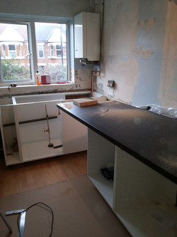 Removal of old kitchen units...