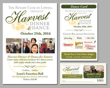 Harvest Dinner Dance Cards and Tickets