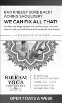Bikram Yoga Newspaper Ad