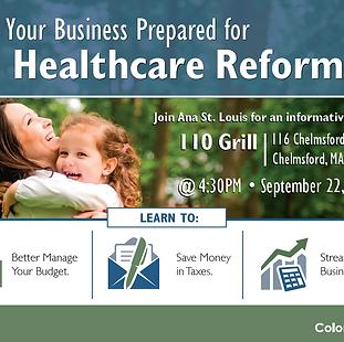 Healthcare Reform Seminar Postcard