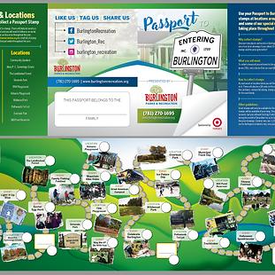 """""""Passport to Burlington"""" Stamp Brochure"""