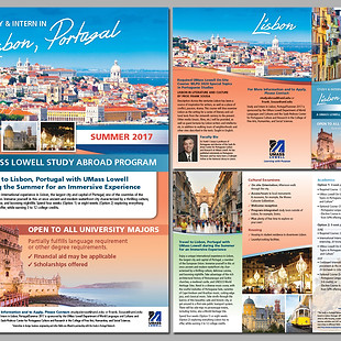 Study Abroad in Lisbon Poster and Brochure