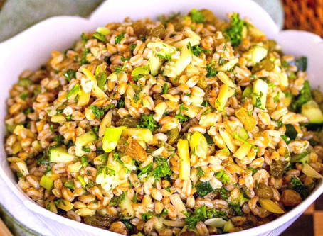 RICED CAULIFLOWER AND FARRO SALAD