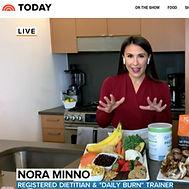 Nora Minno RD today show nutrition segme