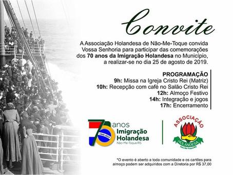 Festa dos 70 anos da Imigração se aproxima