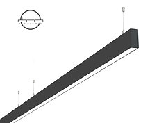 L-8456: 0-10V Dimming LED Linear Light Continuous 4ft/8ft (Linkable up to 150ft)