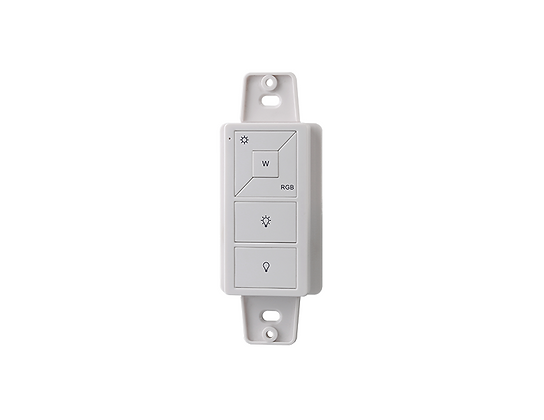 Wireless RF RGBW Wall Mount/Remote Mini Controller 1Z for Color LEDs WHITE