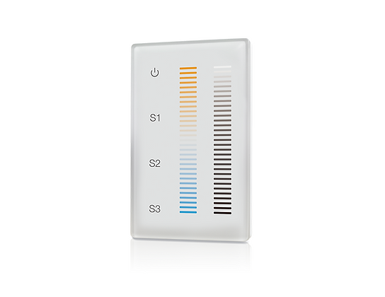 Wireless RF CCT Wall Mount Controller 1Z for Tunable White LEDs WHITE