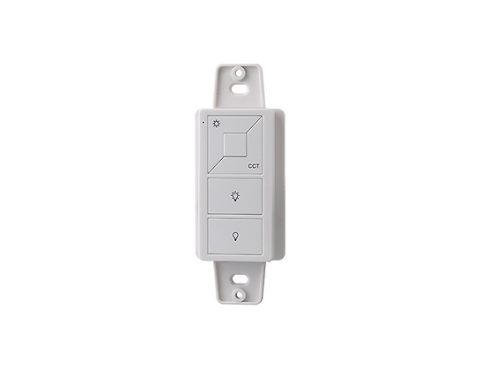 Wireless RF CCT Wall Mount/Remote Mini Controller 1Z for Tunable White LEDs WHIT