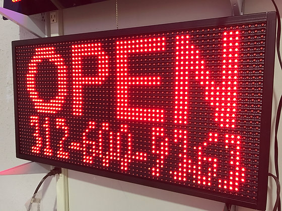 Indoor Sign -  Single Color (R/G/B/W) - LED Display