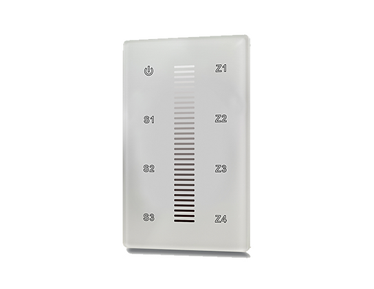 Wireless RF Wall Mount Dimmer/Controller 4Z for Single Color LEDs
