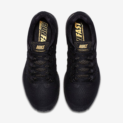 62a8860dfb444 ... black metallic gold 880103 007 mens size 8.5 ab0c8 a4053  clearance  versatile and fast the nike air zoom pegasus 33 le bg mens running shoe  provides
