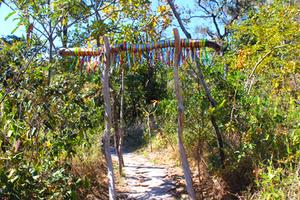 Portal na Cachoeira do Abade em Pirenópolis, Go