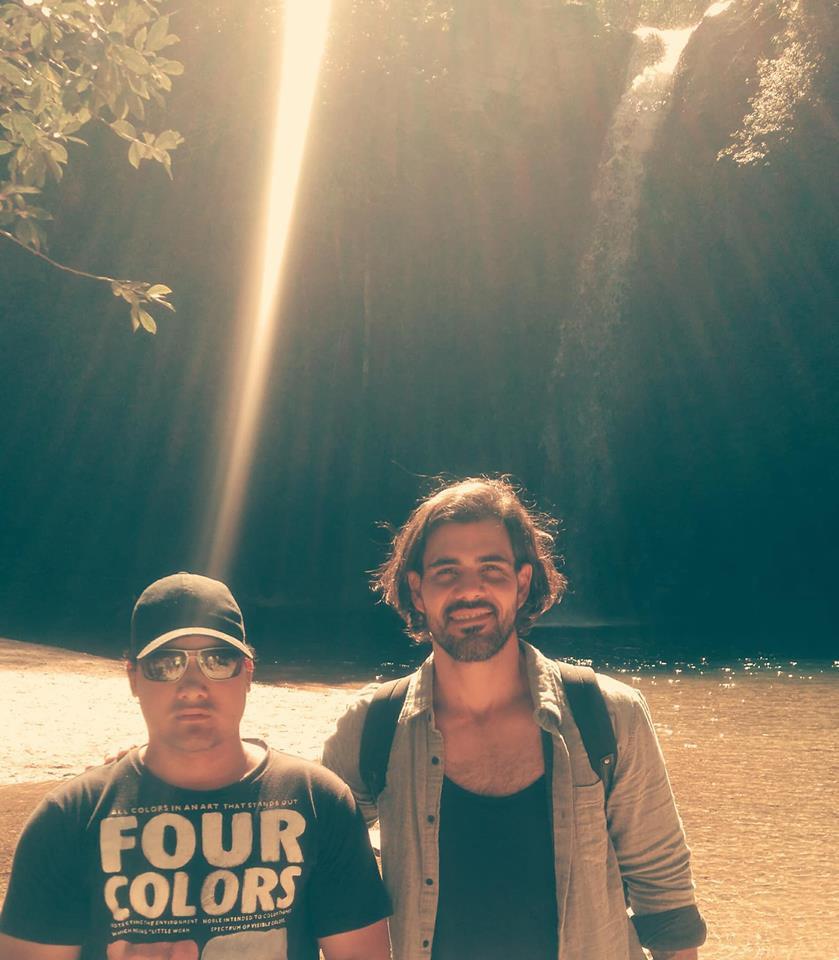 Ator da Globo Juliano Cazarré fez campanha da Cartago na Cachoeira do Abade