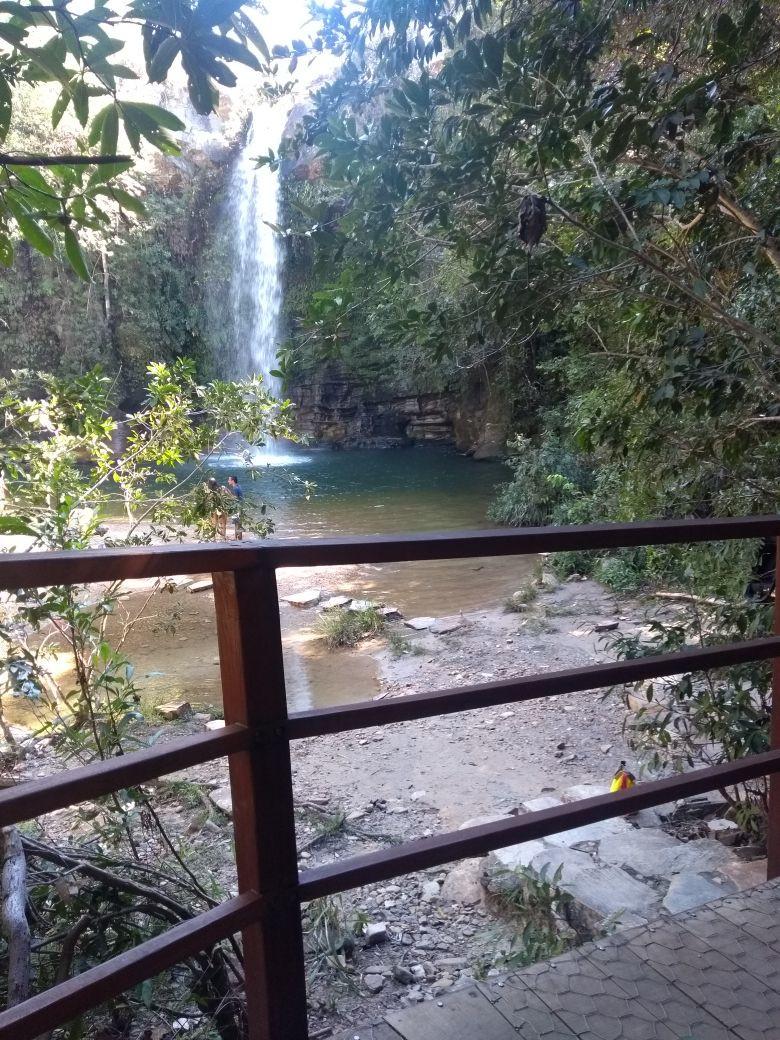 Rampa de acesso para na Cachoeira do Abade Pirenópolis, go