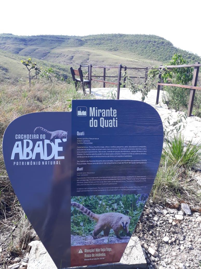 Placa da Trilha do Vale Mirante em Cachoeira do Abade site