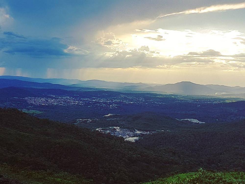 Vista do Mirante do Ventilador em Pirenopolis, Go