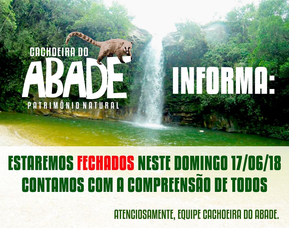 Cachoeira do Abade estará fechada