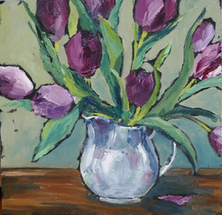 Tulips in White jug 1