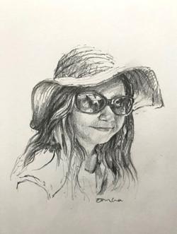 Girl in a sunhat
