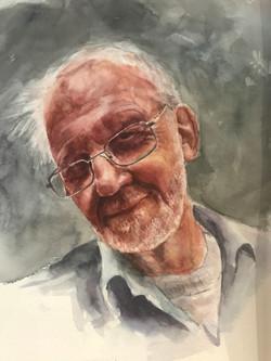 Ron -watercolour portrait