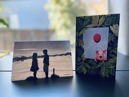 Favorites - Original Art Card 6-Pack - Folded