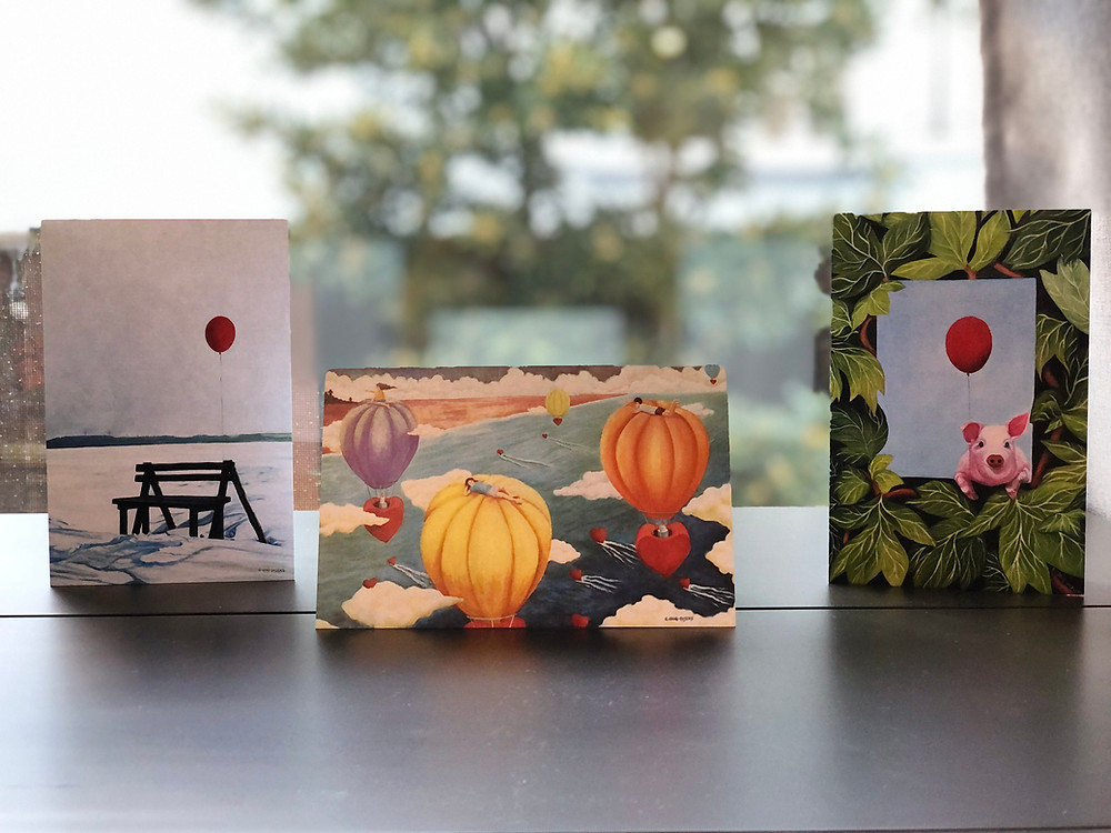 Examples of the original art card - 4x6 folded
