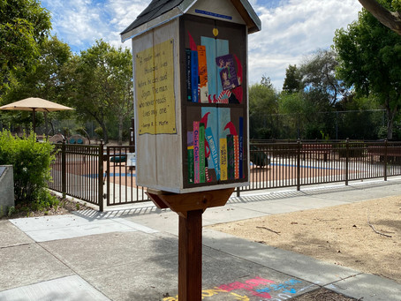 My art on our local Lending Library