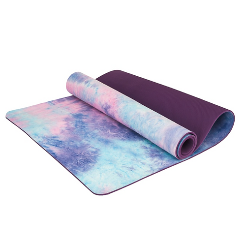 Tapete de Yoga Ecológico Aveludado Tie Dye