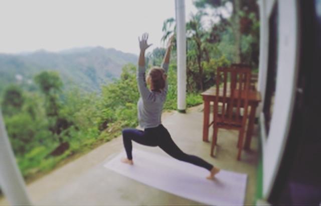 Eu e meu Yoga Mat no Sri Lanka