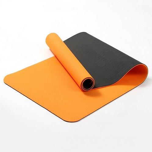 Yoga Mat Ecológico Laranja e Preto